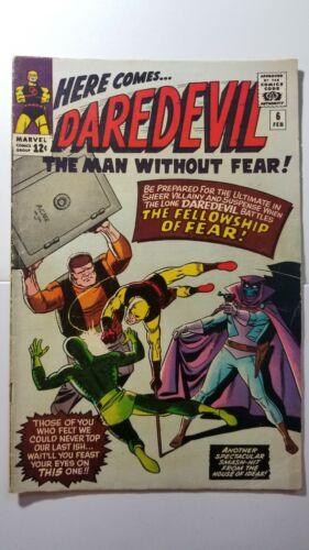 Daredevil #6 VG/FN 1st App Mister Fear 1964