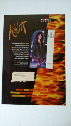 CHER...Is Hot BMG Video  Original Promo Poster Ad