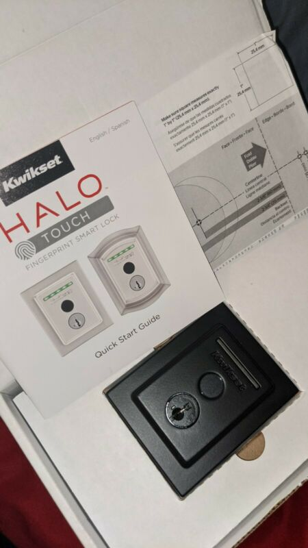 🪙 *NEW* Kwikset Halo Touch Contemporary Square WiFi FINGERPRINT Smart Door Lock