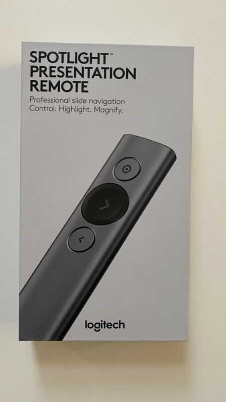 New Logitech Spotlight Wireless Presentation Remote Control (Slate)