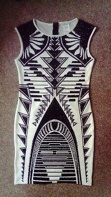 Black & White Bodycon Dress, size M (UK10)