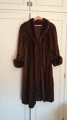 LUJO MUJER visón chaqueta de piel abrigo invierno Parka Plus