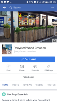Recycled wood planter boxes and other custom designs