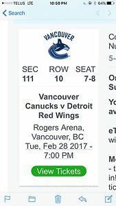 2 Canuck tickets