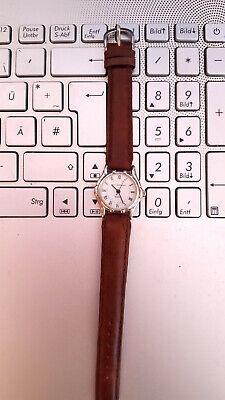 Damen Armband Uhr mit braunem Leder-Armband, AMY VERMONT, Quartz !