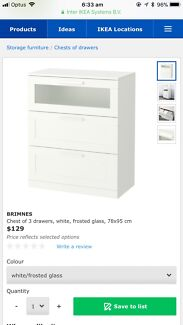 IKEA drawers and bed side table