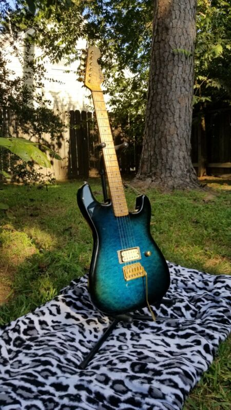 Lynn Ellsworth Mighty Mite Guitar Dimas DiMarzio Brass Quilt