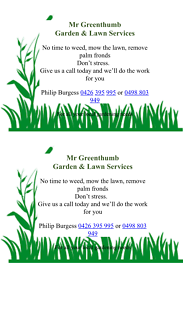 Mr Greenthumb garden and lawn services
