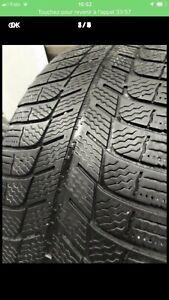 215-55-16 Michelin x -ice hiver 4 pneu 4/32