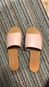 Brand new never worn pink slip on shoes