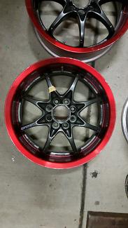 """Genuine set Volk Racing NRS 15"""" 4x100 Rays black jdm wheels rims"""
