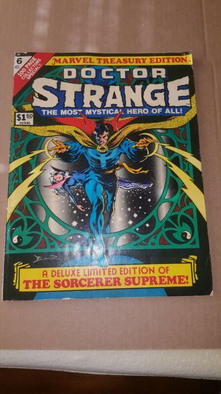 DOCTOR STRANGE in MARVEL TREASURY EDITION #6 FRANK BRUNNER COVER 1975-GVG