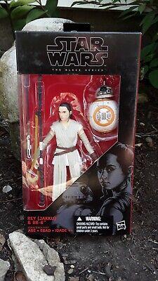 """Star Wars The Black Series Rey(Jakku) & BB-8, the force awakens.. new. 6"""" fig"""