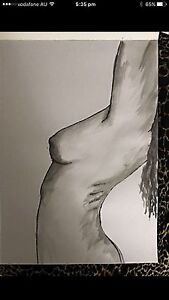 Watercolour nude portrait Manly Brisbane South East Preview
