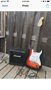 SQUIRE STRAT FOR SALE (FENDER DECALS)