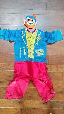 VINTAGE COLLEGEVILLE CLOWN COSTUME WITH MASK TINY TOT