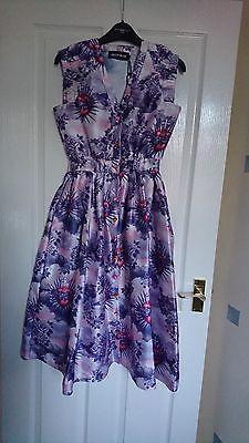 House of Holland pink purple rose heart dress size 8 BNWT Prom dress