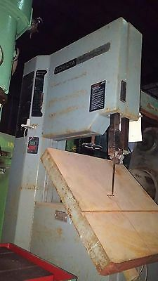Delta Vertical Band Saw 20 In. Var. Speed Cuts Steel Al Wood 24 Sq. Table