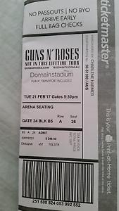 Guns n roses 1 x ticket Success Cockburn Area Preview