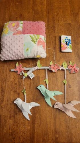 Cloud Island Floral Fields Nursery Decor 3 Piece Mobile Pillow Switchplate