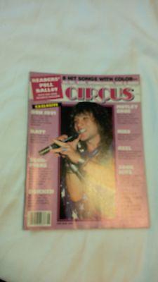Vintage Circus Magazine NOV 1985 !! Van Hal,Bon Jovi,Motly Crue,Ratt,Cinderella