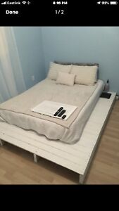 homemade wooden bed