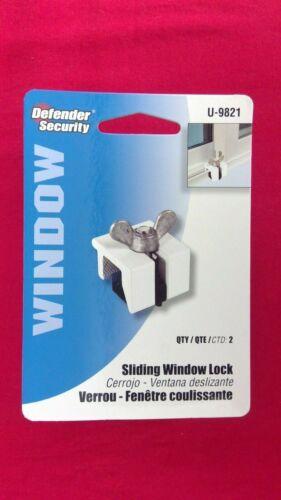 """NEW Prime Line U9821 7/8"""" Aluminum/Plastic No-Mar Window Lock (Pack of 2 Count)"""