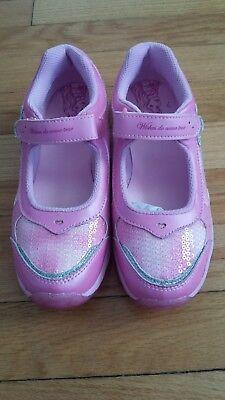 NIBStride Rite Disney Wish Light-up Aurora Pink MJ Sneaker Girls -