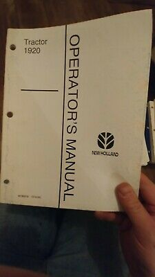 Ford New Holland 1920 1910 2120 1720 Tractor Operators Manual Choice