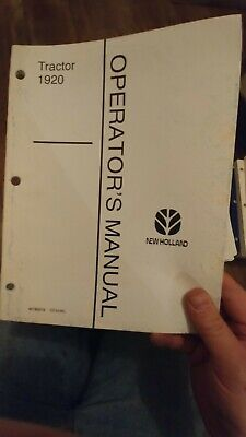 Ford New Holland 1920 1620 1510 1910 2120 1720 Tractor Operators Manual Choice