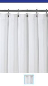 White terry towel shower curtain