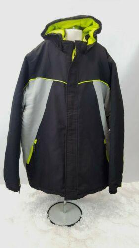 Roebuck Company Ski Snow Outdoor Jacket Youth Boys Size XL 18-20 Black Yellow