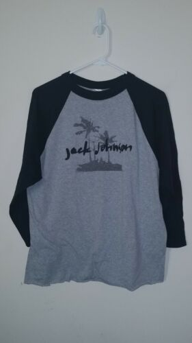 Jack Johnson Raglan / Baseball Style Sz L Shirt  J55