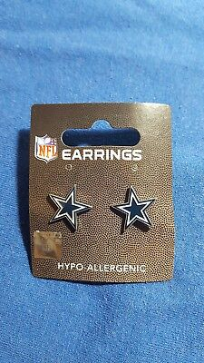 Dallas Cowboys NFL A Pair of Surgical Stainless Steel Pierced Earrings Star](Dallas Cowboy Star)