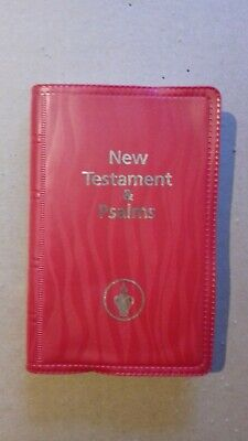 New testament and psalms the holy bible - travel sized - red cover