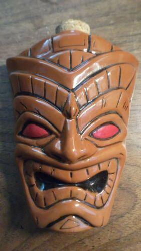 Kahakai Kahiki Tiki Ceramic Flask