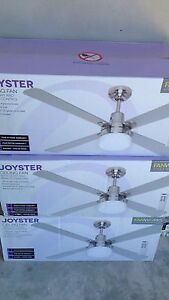Joyster ceiling fan with light, silver, remote control, BNIB Edensor Park Fairfield Area Preview