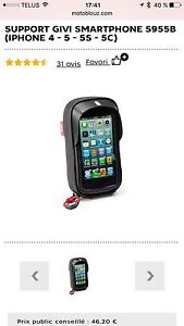 Support GIVI pour iPhone sur moto