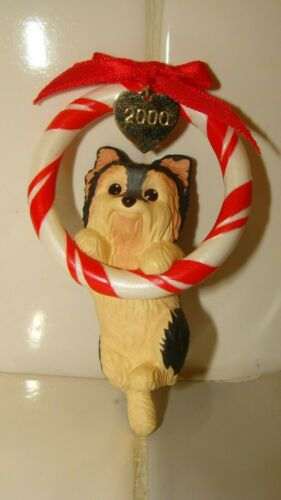 2000 Hallmark Keepsake Yorkshire Terrier Puppy Love Christmas Ornament