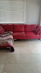 red leather chaise lounge damaged Mullaloo Joondalup Area Preview