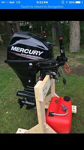 New 2016 Mercury 15 HP Four Stroke