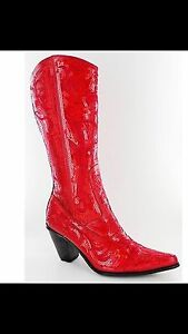 Gorgeous red sequence cowboy boots