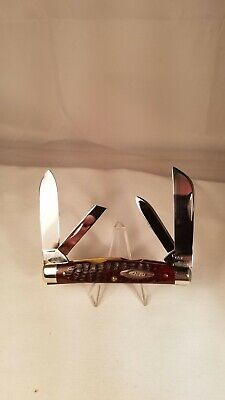 Case XX USA  6488 Large 4 Blade Congress Knife Red Bone USA ERA 1965-1969 MINT