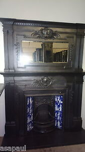 Large-substantial-victorian-cast-iron-fireplace-with-matching-overmantel-mirror