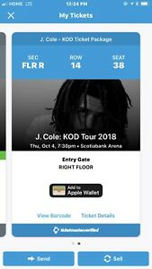 J. Cole KOD Tour 2018 Toronto Floor Seats