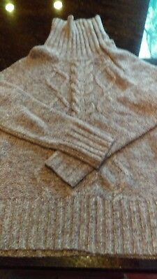 - Old Navy ladies cable knit sweater in cafe au lait ladies size L