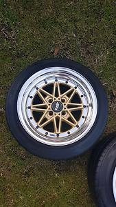 "Genuine set Work Equip 03 15"" 4x100 jdm wheels rims Castle Hill The Hills District Preview"