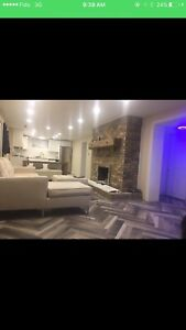 2 bedrooms brand new basement furnished 1650 &short term  term