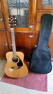 Yamaha acoustic guitar in soft carry case Stafford Heights Brisbane North West Preview