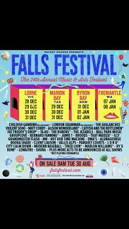 1 x 3 day Falls Fest ticket with camping